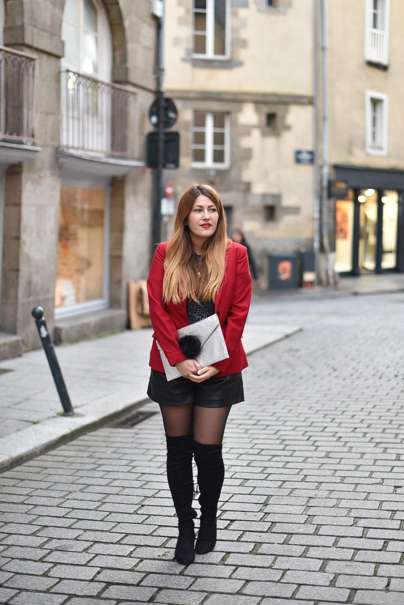 blazer rouge sumissura