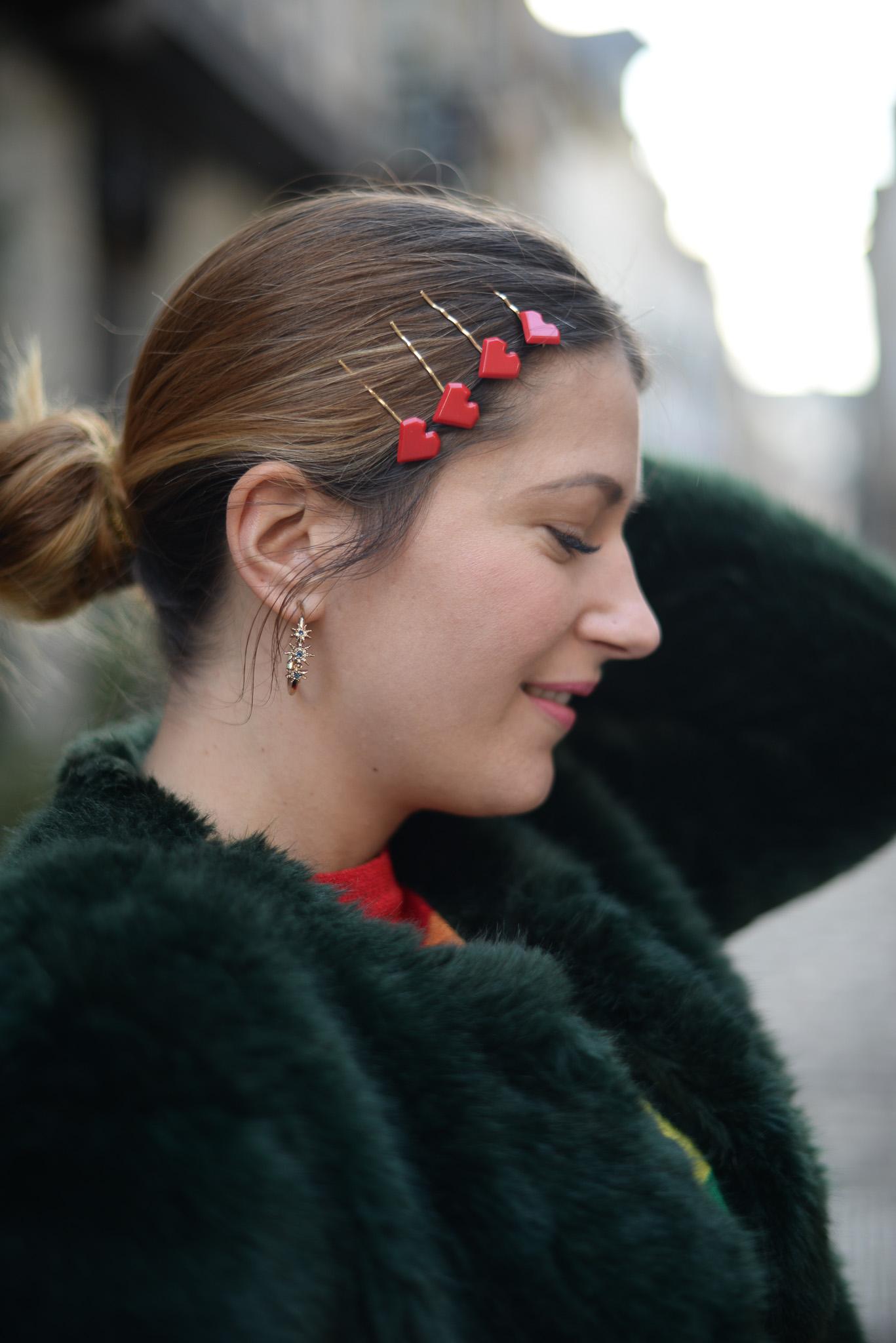 barrettes coeur cheveux
