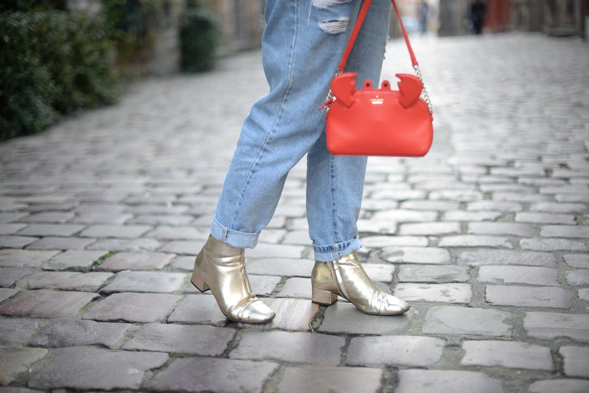 bottines dorées