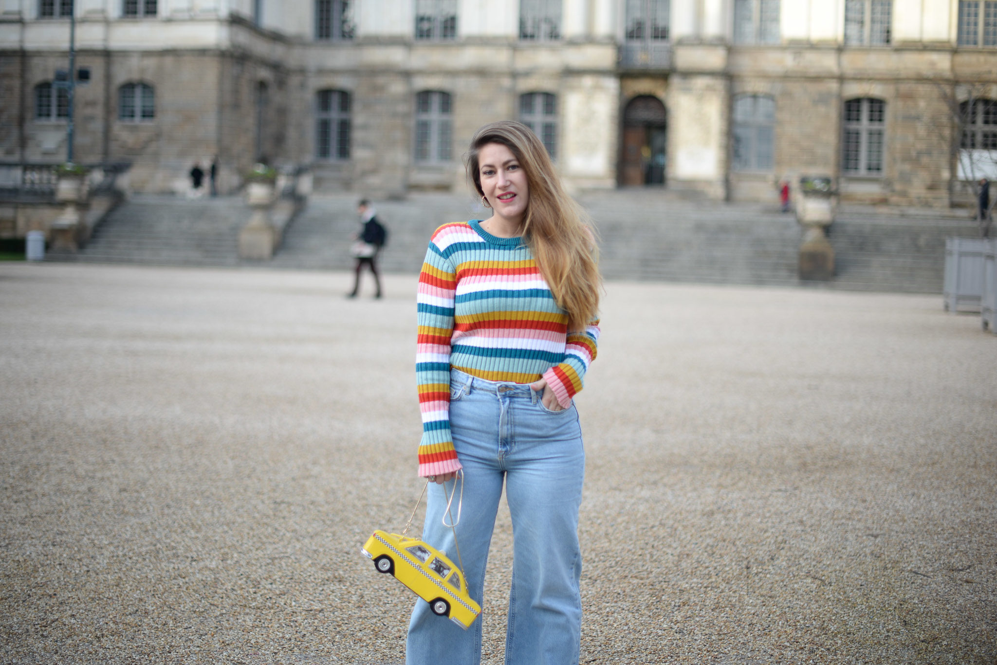 pull rayures multicolores