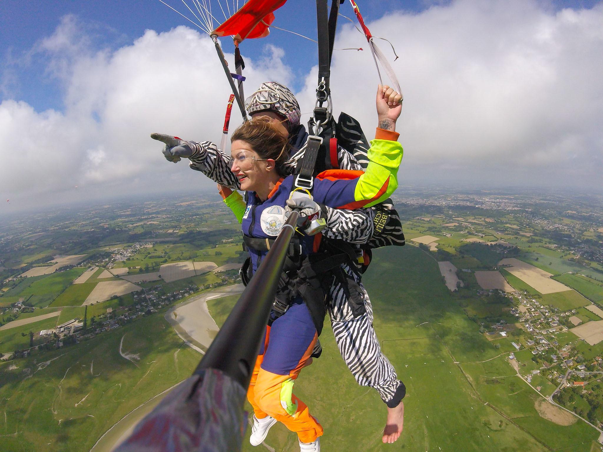 Mon saut en parachute en Bretagne