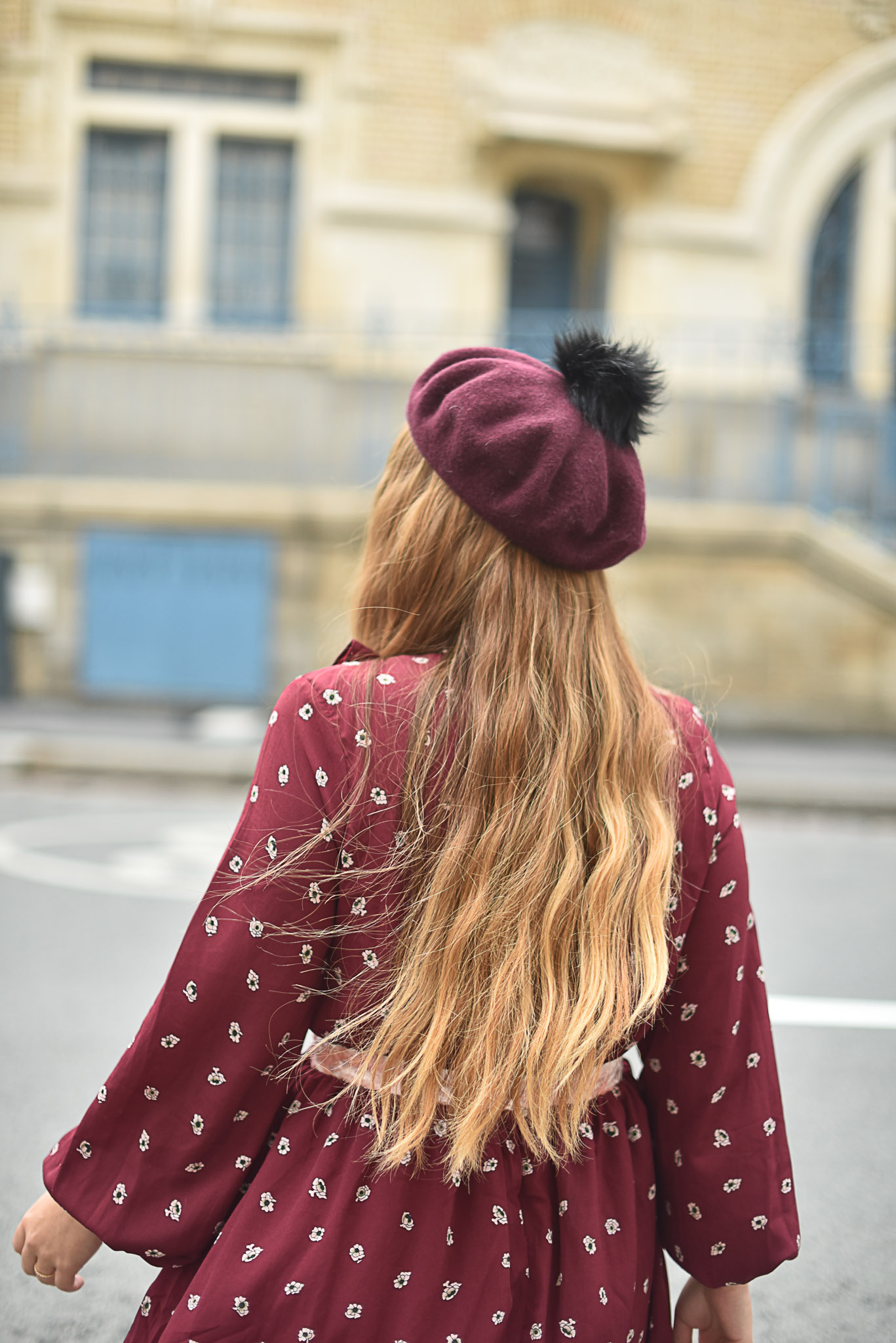 robe bordeaux rose