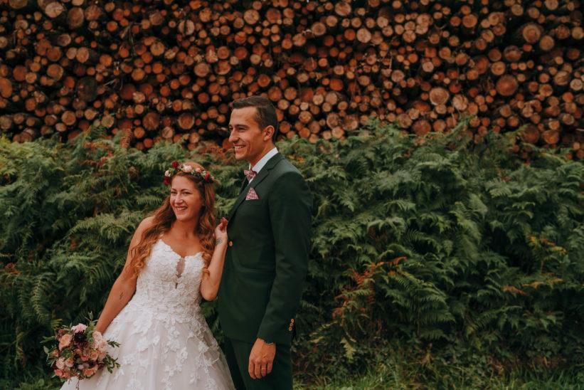 mariage bohème en automne