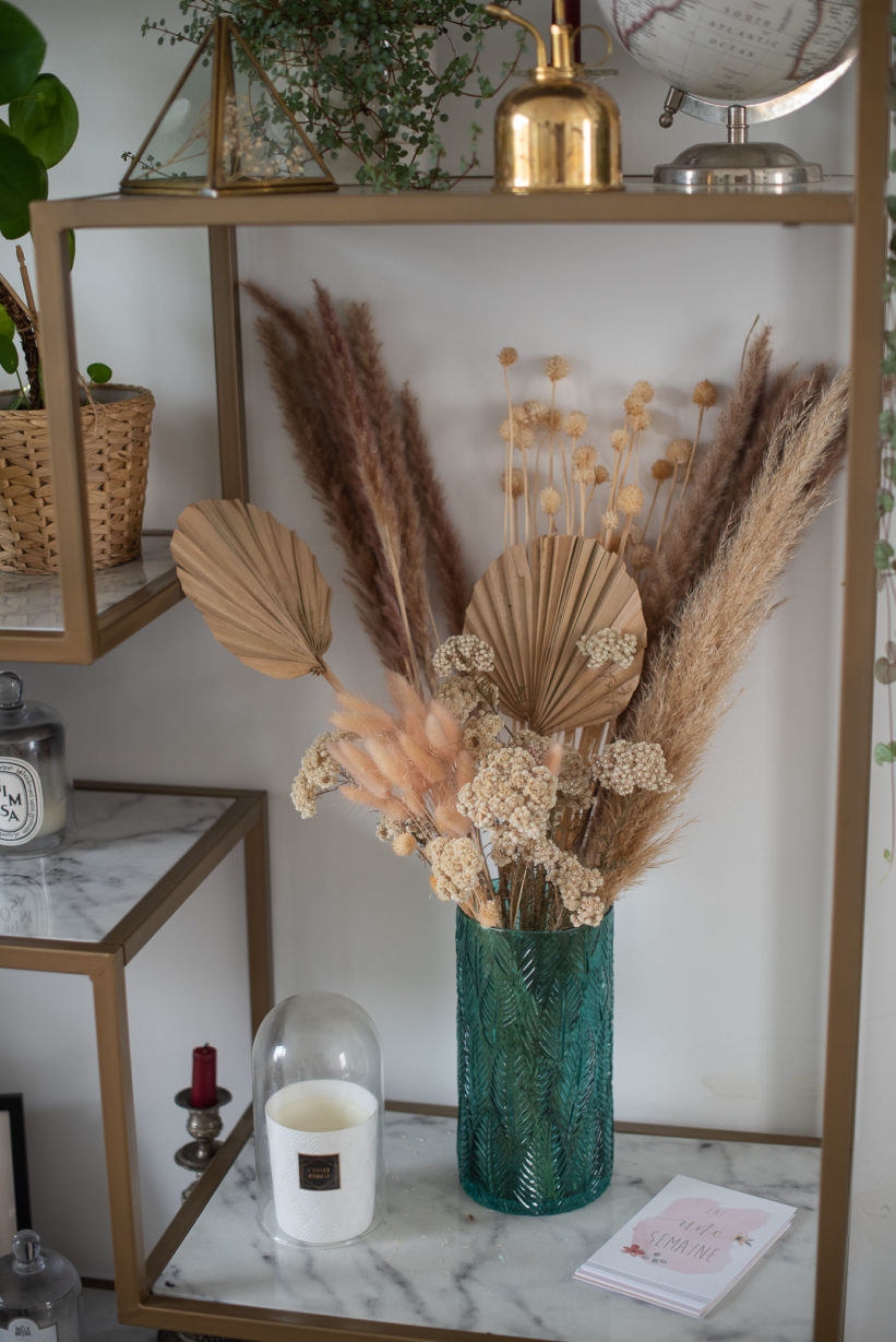 idée deco fleurs sechees
